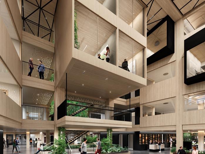 A Working Lab - Vägen till kontorshus och innovationsarena i trä