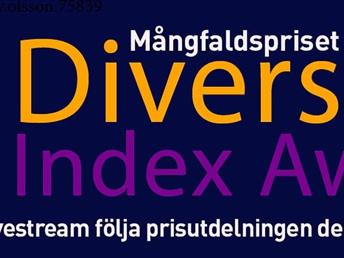 Mångfaldsgalan på Malmö Rådhus 22 oktober kl 17 - Diversity Index Award - följ via livestream
